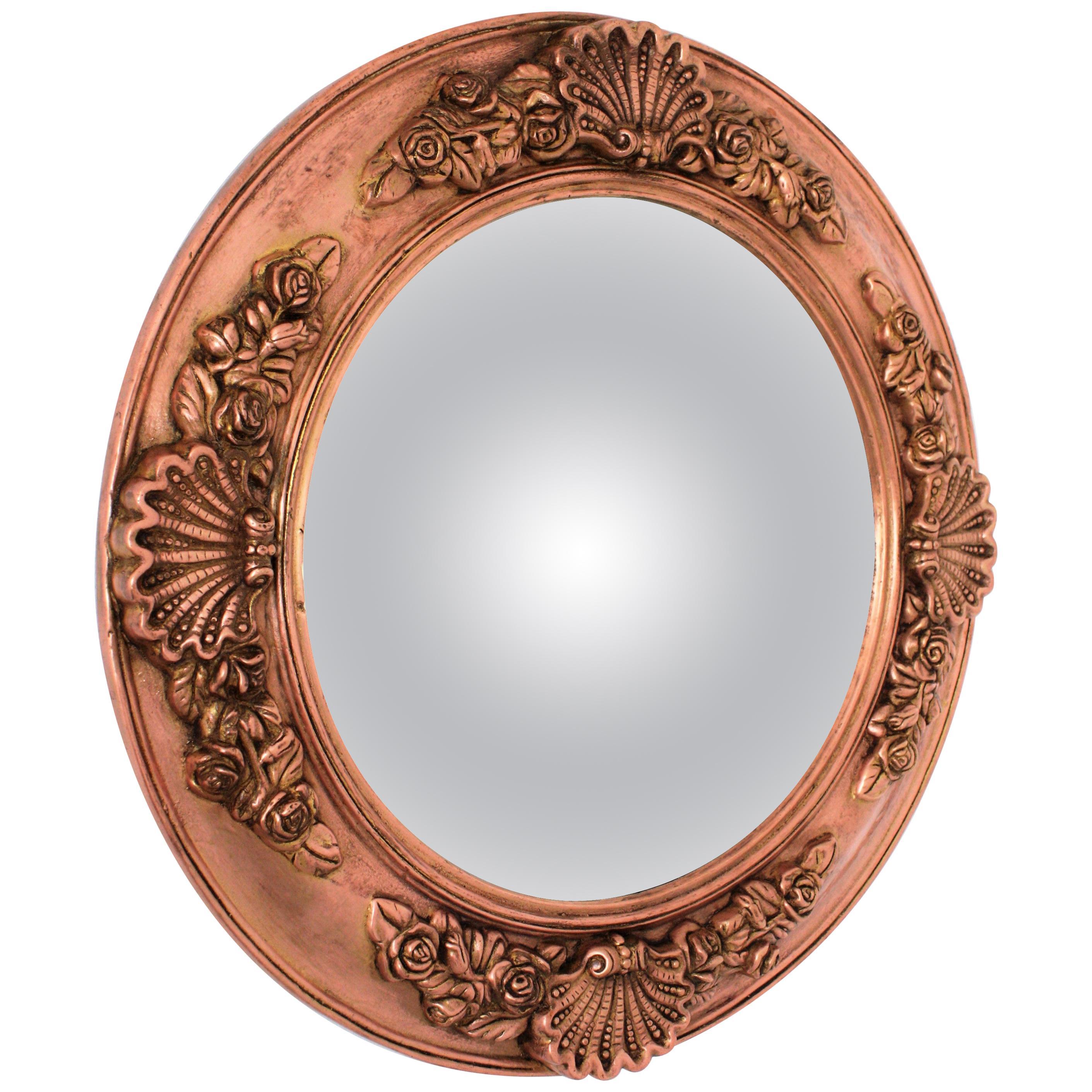 19th Century English Copper Bulls-Eye Convex Mirror
