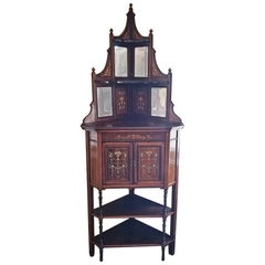 19th Century English Corner Cabinet Attributed to Collinson and Lock