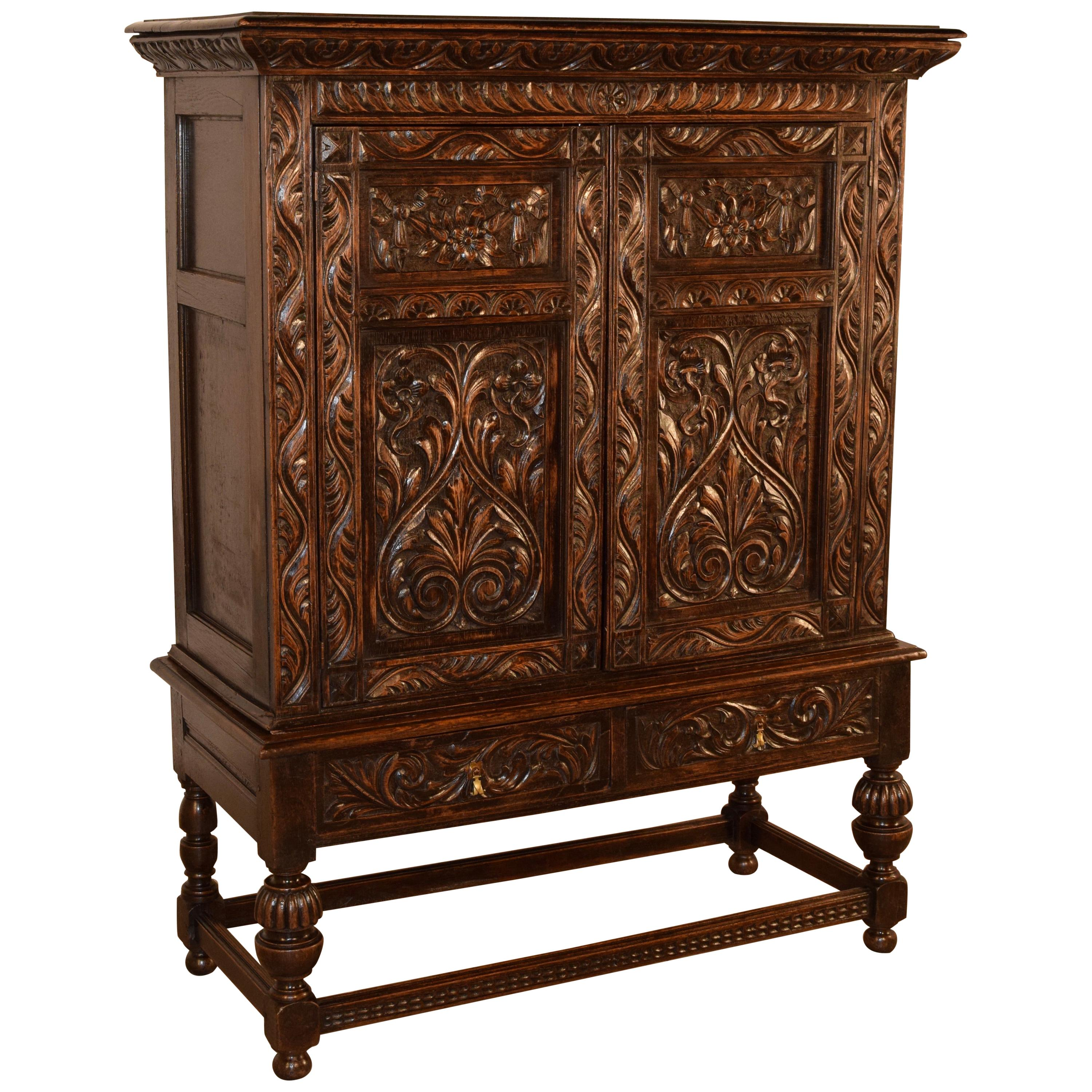 19th Century English Cupboard on Stand