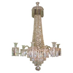 19th Century English Cut Glass Chandelier