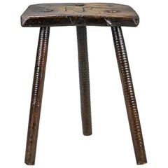 "19th Century English Cutlers Stool Initialed ""F P"""
