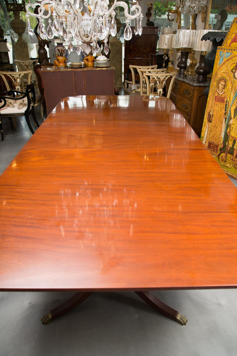 Mahogany 19th Century English Double Pedestal Dining Table