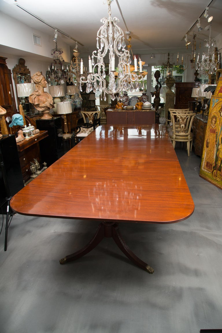 19th Century English Double Pedestal Dining Table 3