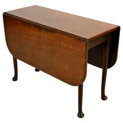 19th Century English Drop-Leaf Wood Table
