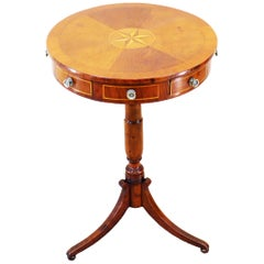 19th Century English Drum Type Occasional Table