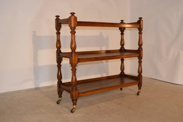 Turned 19th Century English Dumbwaiter For Sale