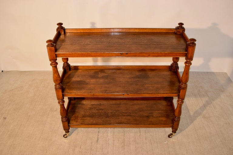 19th Century English Dumbwaiter In Good Condition For Sale In High Point, NC