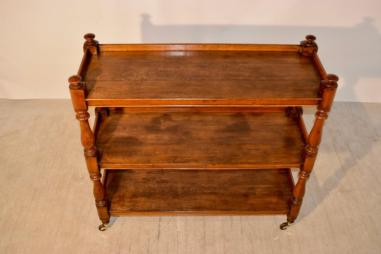 Oak 19th Century English Dumbwaiter For Sale