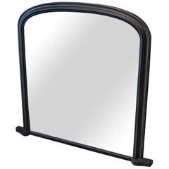 19th Century English Ebonized Foxed Overmantle Mirror