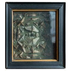 19th Century English Ebonized Framed Death Head Moth Collection