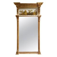19th Century English Églomisé Mirror