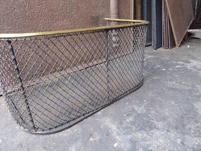 Brass 19th Century English Fire Guard For Sale