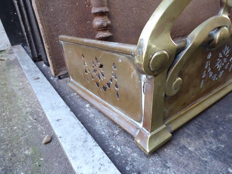 British 19th Century English Fireplace Fender For Sale