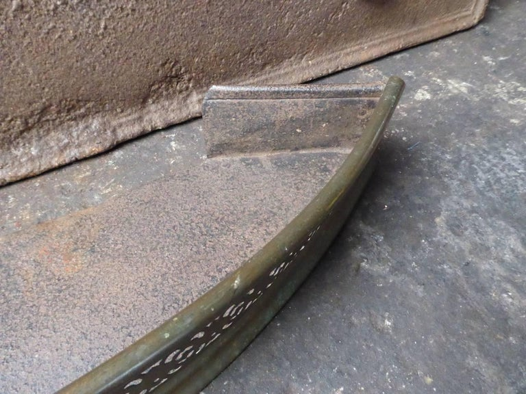 19th Century English Fireplace Fender or Fire Fender In Good Condition For Sale In Amerongen, NL