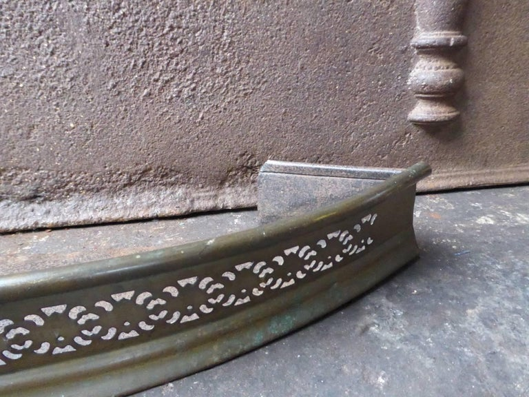 19th Century English Fireplace Fender or Fire Fender For Sale 2