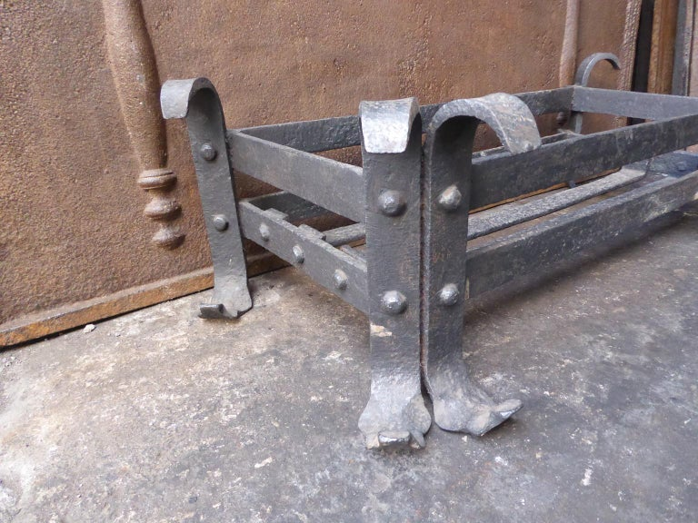 19th Century English Fireplace Grate or Fire Grate In Good Condition For Sale In Amerongen, NL