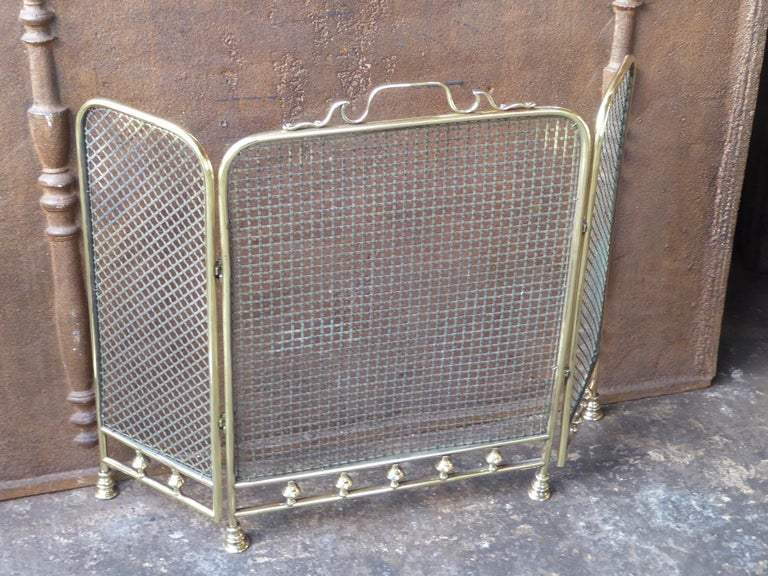 Victorian 19th Century English Fireplace Screen or Fire Screen For Sale