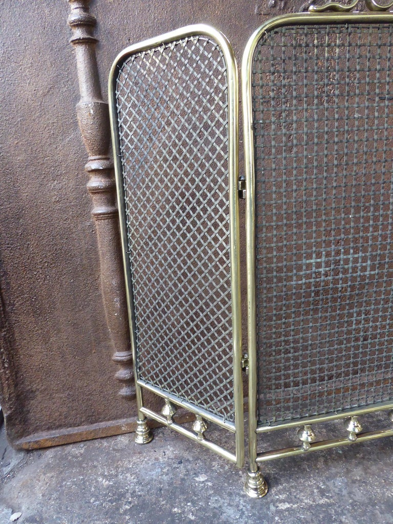 British 19th Century English Fireplace Screen or Fire Screen For Sale