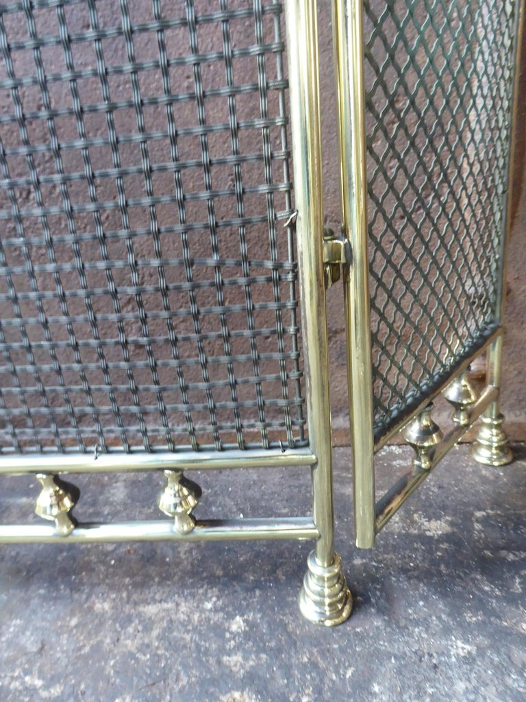 Iron 19th Century English Fireplace Screen or Fire Screen For Sale