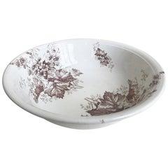 19th Century English Floral Ironstone Bowl
