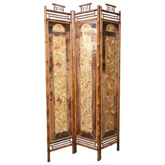 19th Century English Folder Bamboo Divider Screen