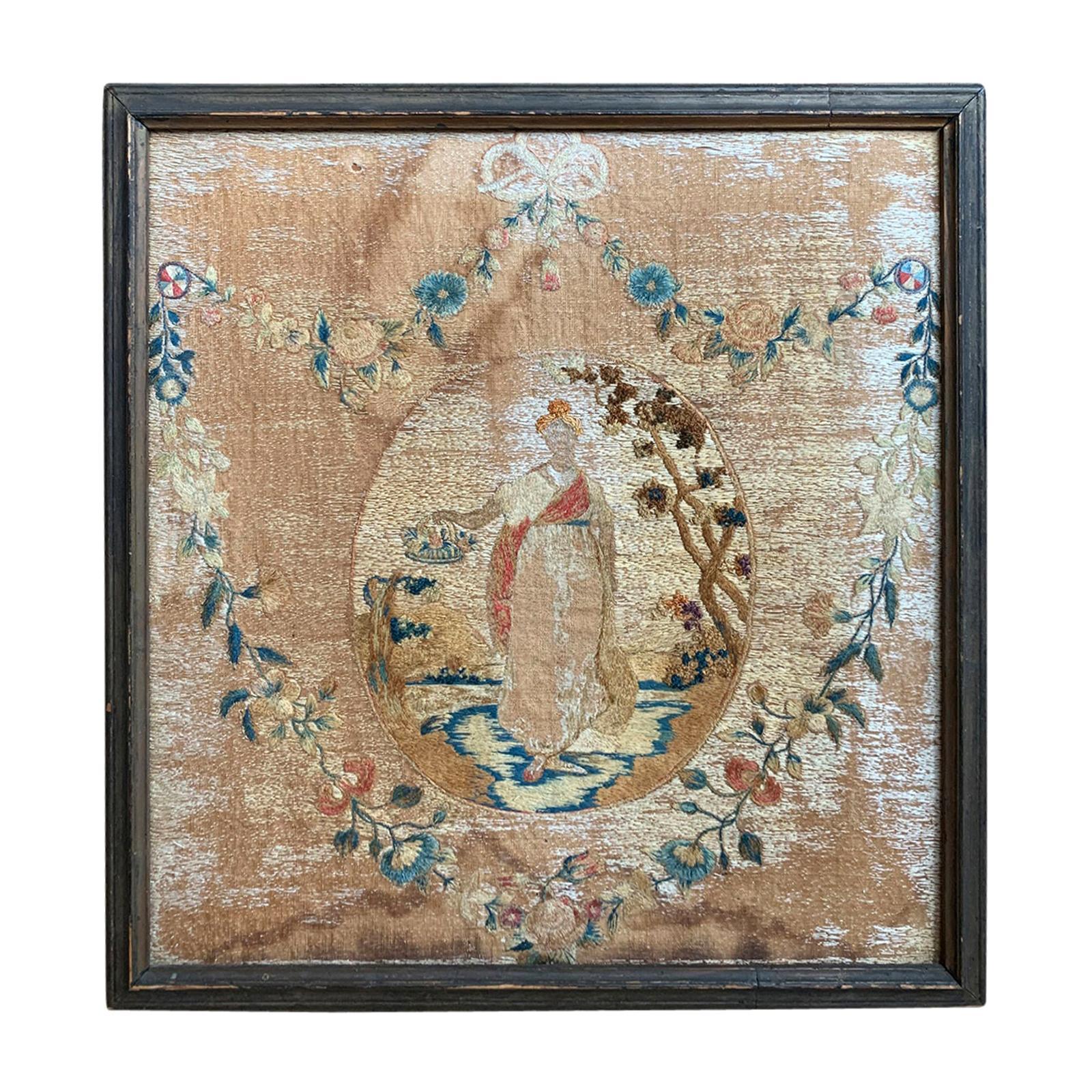 19th Century English Framed Needlework