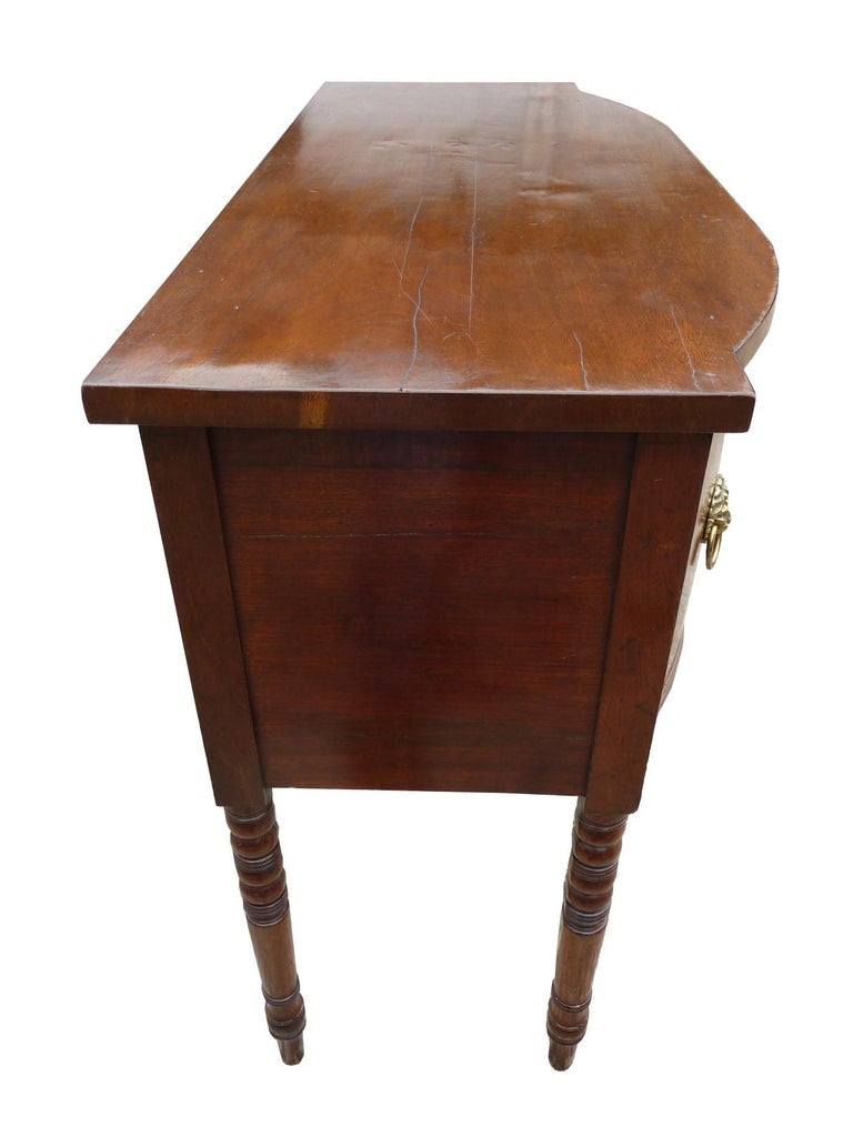 19th Century English George III Mahogany Sideboard In Good Condition For Sale In Chelmsford, Essex