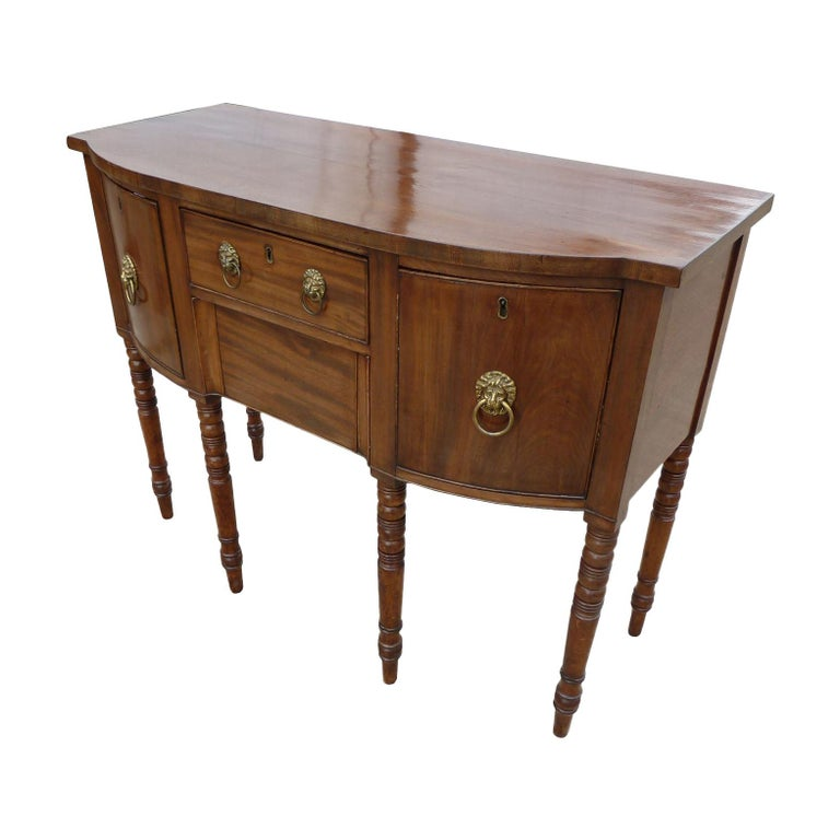 19th Century English George III Mahogany Sideboard For Sale