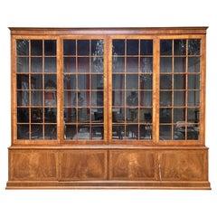 19th Century English George III Style Mahogany Bookcase
