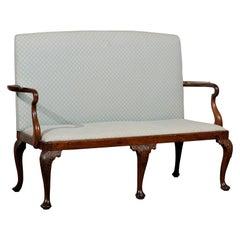 19th Century English Georgian High Back Bench / Settee