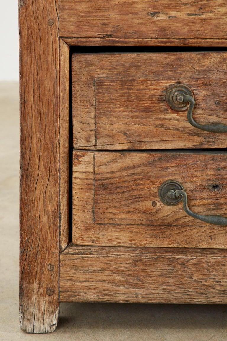 19th Century English Georgian Oak Box Settle Bench For Sale 10