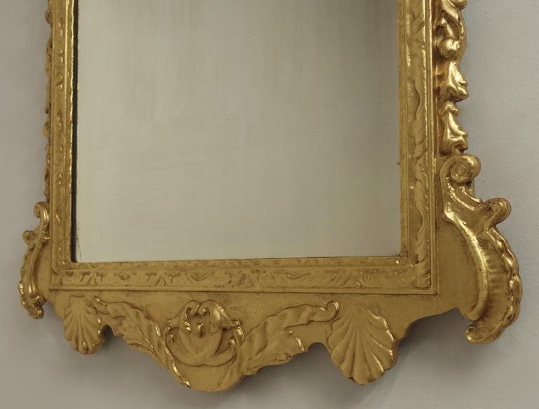 19th Century English Georgian Style Gilt Wood over Mantle Mirror  For Sale 8