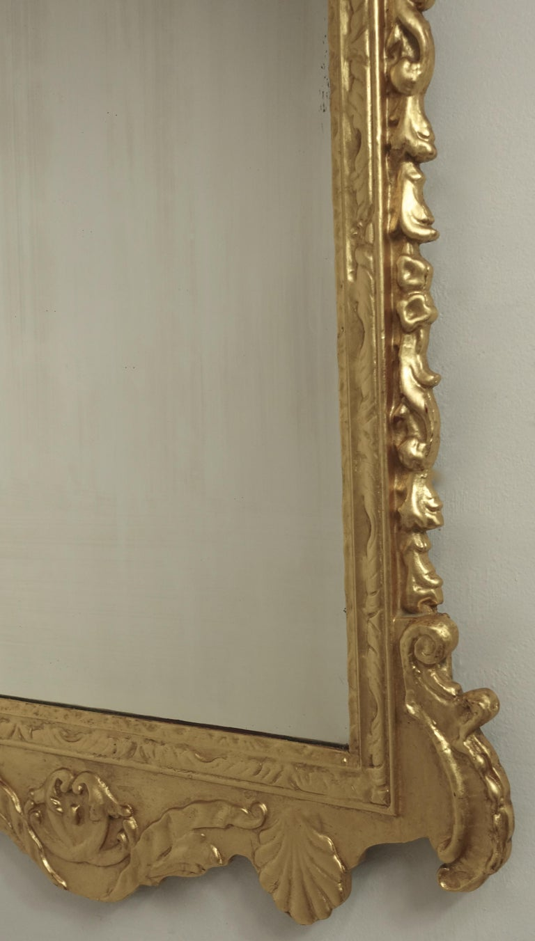 19th Century English Georgian Style Gilt Wood over Mantle Mirror  For Sale 11