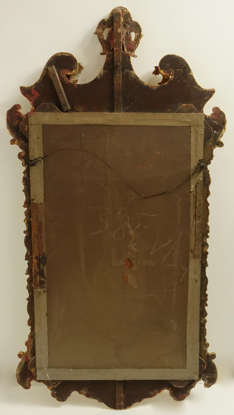 19th Century English Georgian Style Gilt Wood over Mantle Mirror  For Sale 12