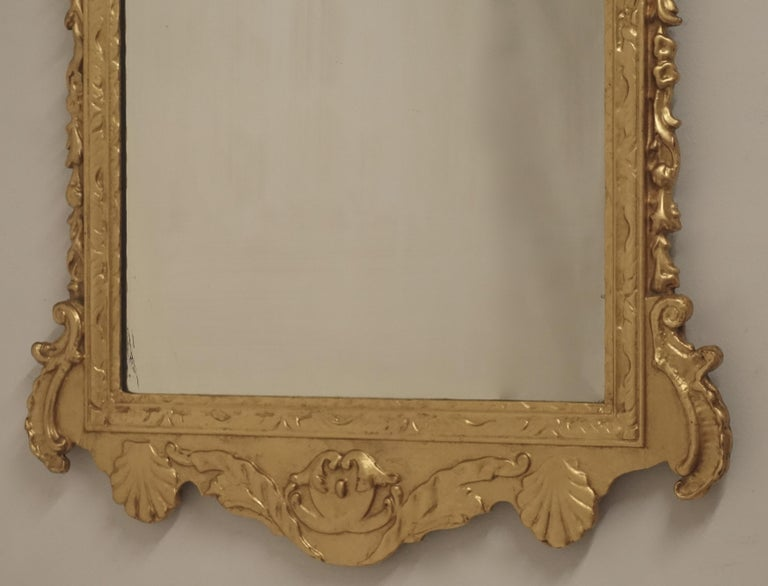 19th Century English Georgian Style Gilt Wood over Mantle Mirror  For Sale 1