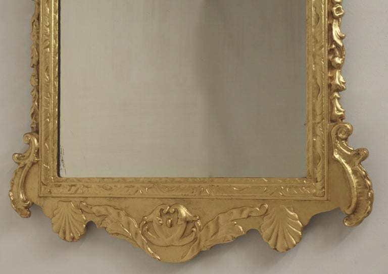 19th Century English Georgian Style Gilt Wood over Mantle Mirror  For Sale 4