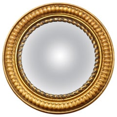 19th Century English, Gilded Convex Mirror