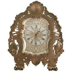 19th Century English Gilt Bronze Strut Clock, circa 1880