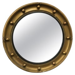 19th Century English Gilt Bullseye Mirror