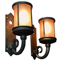 19th Century English Gothic Bronze Wall Lights