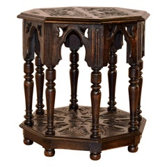19th Century English Gothic Side Table