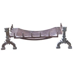 19th Century English Gothic Style Fire Grate or Fire Basket