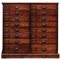 19th Century English Haberdashery Workshop Bank of Drawers