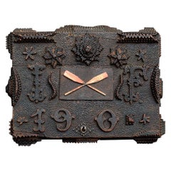 19th Century English Handcarved Soldiers Ditty Box