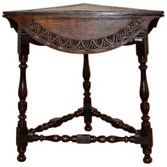 19th Century English Handkerchief Table