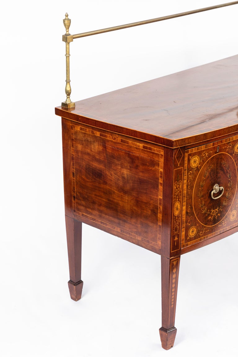 19th Century English Inlaid Sideboard For Sale 7