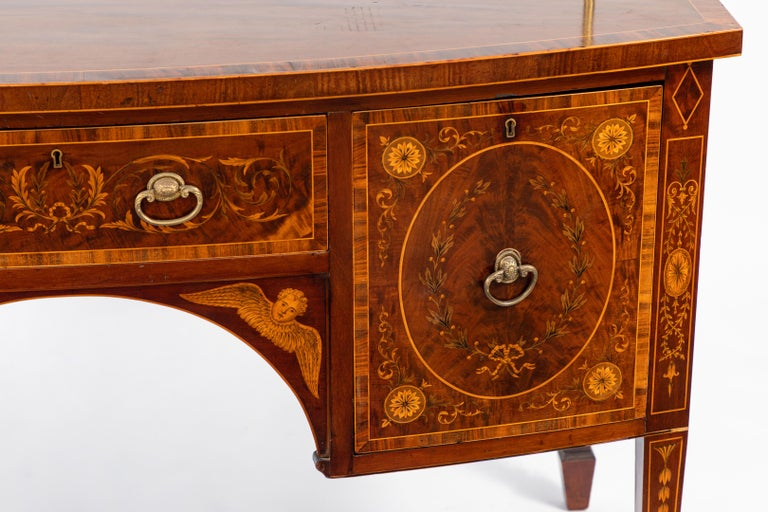 Inlay 19th Century English Inlaid Sideboard For Sale