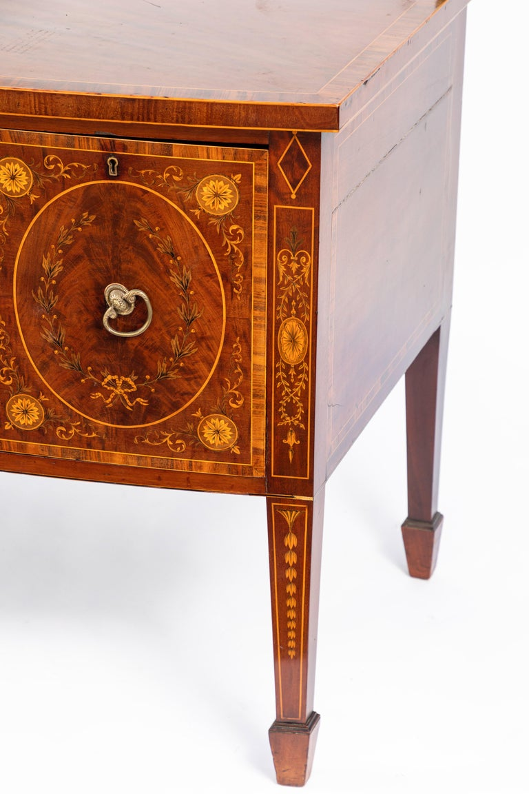 19th Century English Inlaid Sideboard For Sale 2
