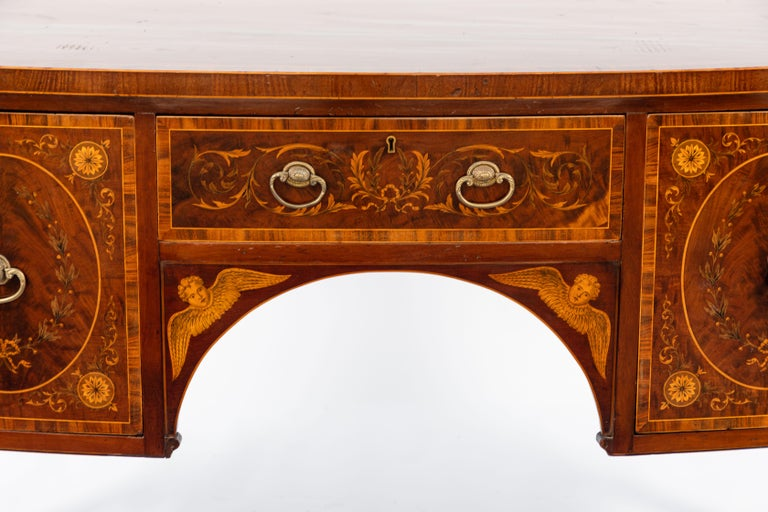 19th Century English Inlaid Sideboard For Sale 3