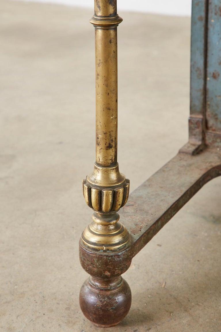19th Century English Iron Bronze Industrial Davenport Desk For Sale 6